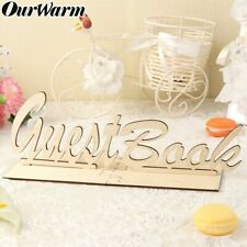 Wooden Guest Book Sign Baby Shower Guest Book Sign Wedding Birthday Table Decor