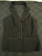 Black Beaded Open Back Low Cut Next Waistcoat in Size 12 - NWOT