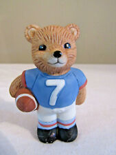 Homco Porcelain Boy Bear Figurine Playing Football #1422