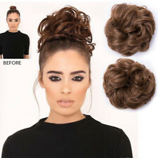 LARGE THICK Curly Chignon Messy Curly Bun Updo Clip in Hair Piece Extensions LK4