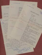 Glenys Marshall. Actress. Uddingtson. 1965 letter & bio sheets  qp275