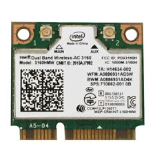 Intel Wireless-AC 3160 3160HMW Dual band 802.11 ac Wifi BT 4.0 Mini PCI-E Card