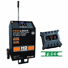 SOLAR 12/24 Volt 100/60/40/15/5/425A Fleet Charger w/FREE 12/24V Intelligent Bat