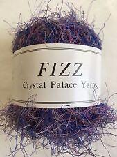 Crystal Palace Fizz Eyelash Yarn #7119 Painted Iris - Purple Blue Grey 50g 120yd