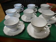 "Beautiful ASHCRAFT Fine China ""Empress""...Set of 8 CUPS & SAUCERS"