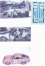 Decals 1/43e Porsche 911 R Estanislao Reverter Rais Bajas 1970