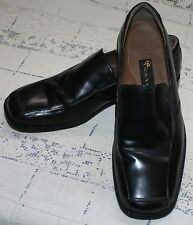 Stacy Adams Black Dress Shoes Sz 10M 10 M Leather Square Toe Slip On