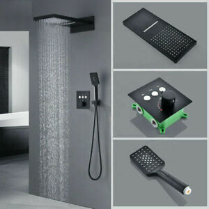 High Quality In-Wall Mounted Rain Massage Spout Mode Bathroom Shower Faucet Set