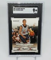 2009-10 Panini Prestige Stephen Curry RC Rookie #207 SGC 9 Warriors Comp PSA BGS