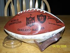 Oakland Raiders Super Bowl XV Facsimile Team Signed Auto Football Vintage New