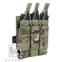 KRYDEX Triple Open Top Submachine Mag Pouch Tactical Magazine Carrier Multicam