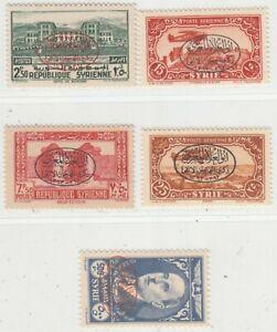 SYRIA  1944  ISSUE FULL SET UNUSED YVERT 267/77+A.112/14
