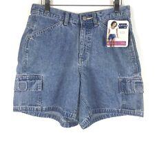 NEW Riders Lee Shorts Size 6 Women Denim Jean Classic Stone Cargo Pockets Blue