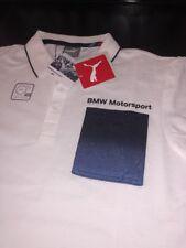 MENS PUMA BMW POLO SHIRT MSP WHITE SIZE LARGE