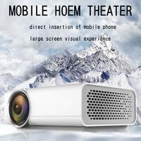 2019 HD Home Theater Projector 1080P Mini LCD Cinema AV USB SD HDMI VGA SD Gift