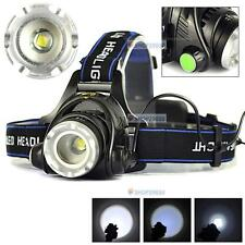 2000LM Zoomable CREE XM-L T6 LED 18650 Head Lamp Torch HeadLight Rechargeable FT