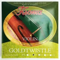 Fisoma Violin Aluminium Wound Steel Strings 1/2