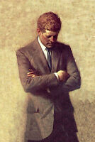 Dream-art Oil painting male portrait President John F. Kennedy hand painted art