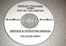 HP 3438A Digital Multimeter, Manual, Operating, Service, Schematics