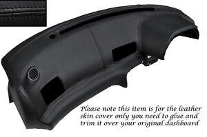 BLACK LEATHER DASH DASHBOARD COVER FITS NISSAN SKYLINE GTS GTR R32 89-94
