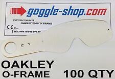 Quantité 100 goggle-shop Tear Offs pour OAKLEY O-FRAME Lunettes Motocross palmes