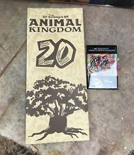 Disney Parks Animal Kingdom 20th Anniversary Park Guide Map & DCF BUTTON