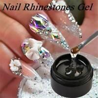 NAIL GLUE Strong Adhesive Clear Acrylic False Nails Tip Art ( NO Brush ) UK 8ml