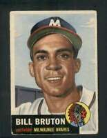 1953 Topps #214 Bill Bruton GVG RC Rookie Braves UER 80123