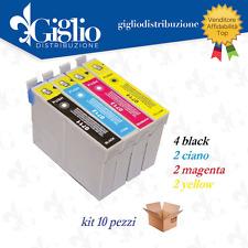 10 CARTUCCE EPSON S20 SX100 SX105 SX200 SX205 SX400 SX405 SX405WIFI T0711 COMPAT