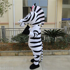 Zebra Mascot Costume Marty Cartoon Cosplay Party Madagascar Dess Adult handmade