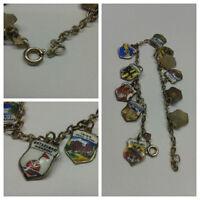 Schönes Armband 925er Silber Bettelarmband Wappenarmband Wappen 19 cm
