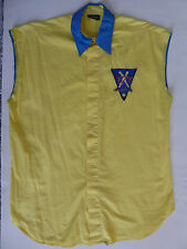VERSACE JEANS COUTURE 1990's VINTAGE  COTTON BASEBALL SHIRT ITALY SIZE LARGE