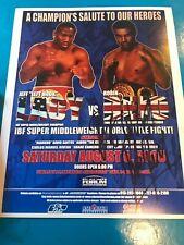 Robin Reid v Jeff Lacy Signed Photo. Boxing Memorabilia Autograph