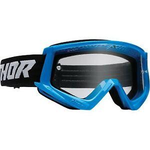 Thor Combat Racer Goggles Blue/Black for ATV UTV Offroad Motocross Riding