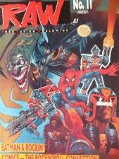 RAW MAGAZINE 11 - RUSH - KEITH RICHARDS - MOTLEY CRUE