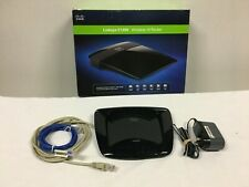Cisco Linksys E1200 V2 300 Mbps 4-Port 10/100 Wireless N Router Used with Cables