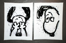 Snoopy I Can't Believe My Eyes & Ears 2 Print Canvas Set Tom Everhart