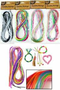 25 Pack Coloured Scooby Strings Scoubidou Fashion Craft Knit 100cm Long