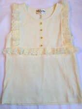 Girls 14 Matilda Jane Lilies Of the Valley Creme Lace Top Shirt