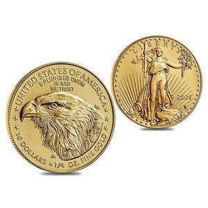 2021 1/4 oz Gold American Eagle $10 Coin BU Type 2