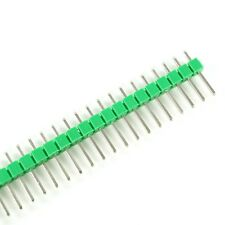 10 x 40 Pin Stiftleiste 11mm einreihig GRÜN (2.54mm Single Row Header Strip)