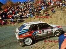 Didier Auriol Lancia Delta Integrale Winner Monte Carlo Rally 1990 Photograph 2