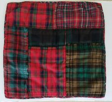 Pottery Barn Sullivan Plaid Patchwork Quilted Euro Sham Red Green Christmas New