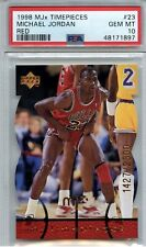 1998-99 UPPER DECK MJx TIMEPIECES MICHAEL JORDAN DI-CUT CARD PSA 10 **POP OF 1**