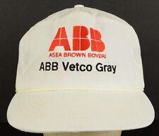 ABB Asea Brown Boveri Vetco Gray Oil Gas White Baseball Hat Cap Snapback