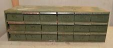 Vintage 18 drawer industrial metal storage cabinet watchmakers parts jewelers