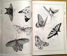 100 Butterfly Baimiao Xianmiao Line Drawing Chinese Painting Book China Tattoo