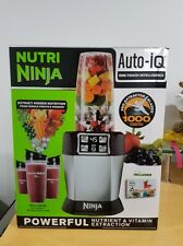 Ninja Juicer Nutri Ninja Blender + Auto-IQ BL482 bullet Pink & Black 1000W NEW