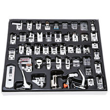 48 Pcs Domestic Sewing Machine Braiding Blind Stitch Darning Presser Foot Kit CF