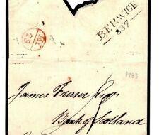 GB 1789 Early DISTINCTIVE MILEAGE POSTMARK *Berwick-337* Scotland Part Cover A10